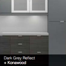 Dark Grey Reflect Konawood color