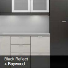 Black reflect baywood color